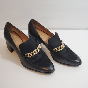 Calvin Klein Finney Leather and Calf Hair Loafer